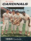 1964 St. Louis Cardinal Yearbook with the Cardinal's All Star Starting Infield