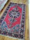 3.9 x 6.0 Vintage Antique Persian Heriz Rug Serapi Persian Rug