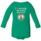 Boston Celtics Love Watching With Daddy Baby Long Sleeve Bodysuit on eBay