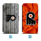 Philadelphia Flyers Leather Flip Case For iPhone X Xs Max Xr 7 8 Galaxy S9 S8 $7.99 USD on eBay