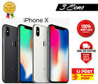 As New Apple Iphone X 10 - 64gb / 256gb Space Grey / Silver - Unlocked [au Sel]
