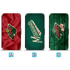 Minnesota Wild Leather Flip Case For iPhone X Xs Max Xr 7 8 Galaxy S9 S8 $8.99 USD on eBay