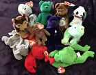 Lot of 11 Ty Beanie Banies with Tags Bear Dog Lobster Frog