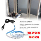 5V USB 2835 12SMD 20CM RGB LED Strip Light Bar TV Back Lighting Kit