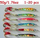 1-20 pcs Knife Jigs 50g/1.75oz Vertical Speed Butterfly Saltwater Fishing Lures