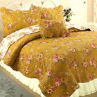Pinegar Floral 100%Cotton 3-Piece Reversible Quilt Set, Bedspread, Coverlet image