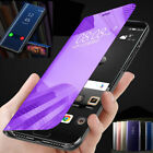 For Samsung Galaxy J6 J4 Plus Clear View Mirror Touch Leather Flip Case Cover