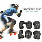 6pcs Protective Gear Roller Skating Skateboard Knee Elbow Wrist Guard Pads S-L image
