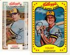 2 Kelloggs 3-D ROBIN YOUNT Basebll Cards