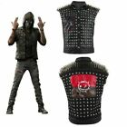 Watch Dogs 2 Wrench Vest Cosplay Costume Black Faux Leather Dedsec Rivet Jacket