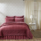 ELEANOR MAUVE QUILT SET & ACCESSORIES. CHOOSE SIZE & ACCESSORIES. VHC BRANDS image
