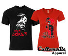 🔥 Her Joker His Harley Couple Matching T shirts Quinn couples His Hers gift Tee image