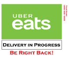 Uber Eats Car Window Delivery Sign Card Customizable