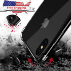 For iphon XS Max X XR 8 7 6 6S Plus Airbag Case Luxury Transparent Cover Coque