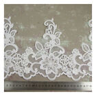 WHITE IVORY DECORATIVE BEADED PEARL LACE APPLIQUE SEWING CRAFTS PER METRE