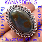 """bloosstone Ring 925 Sterling Silver Plated Ring 6.5"""" R-5366"""