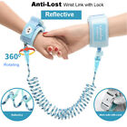 Anti-Lost Child Safety Walking Hand Leash, Kids Reflective Wrist Link with Lock