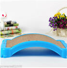 Pet Cat Blue Plastic Lenght 46CM Multi-Function Grinding Claw Plate Toy &$