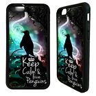 Keep calm and love penguins cute case cover for iphone 5 6 7 8 plus X XS Max XR
