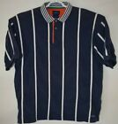 Catalina Polo/Rugby-Style Men's Vertical Striped Shirt Size XL. Blue/White Strps