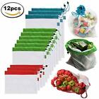 Reusable Grocery Bags Mesh Produce Premium Washable Eco Friendly With Tare On Of