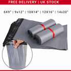 Strong Grey Mailing Poly Bags Plastic Postal Mail Postage All Sizes 100 500 1000