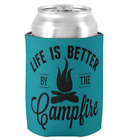 Funny camping beer stubby holder- beer cooler