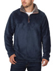 Trinity Men's 1/4 Zip Faux Fur Plush Pullover Variety