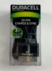 Duracell 30 Pin NEW CHARGE & SYNC 3FT FABRIC Cable Cord Apple iPod iPad