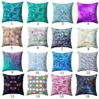 Gold Shining Geometric Polyester Throw Pillow Case Cushion Cover Home Decor image