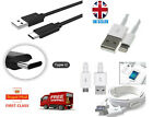UK 1M 2M 3M Fast High Speed Micro, USB Type C & iPhone charging Data Sync Cable