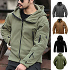 Men Tactical Military Zipper Fleece Hooded Sweat Hoodies Jacket Coat Sweatshirt