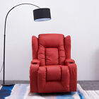 Panana 12 IN 1 WINGED LEATHER RECLINER CHAIR ROCKING MASSAGE 360° SWIVEL HEATED