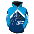 Detroit Lions Hoodie Small-XXXL 2XL Lightweight Unisex Men Women Football on eBay