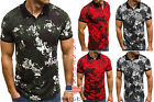 US Stock Colors Men Ftiness T-Shirt Tees Short Sleeve Tops Sport Gym POLO Shirts image