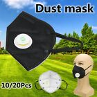 10/20Pcs Dust Face Mask Fold Flat Valved 5 Layer PM 2.5 Respirator Disposable