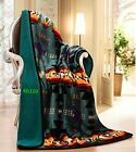 Southwest Native American Indian Navajo Print Throw Blanket Sherpa