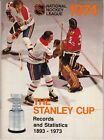 1974 NHL HOCKEY THE STANLEY CUP RECORDS AND STATISTICS