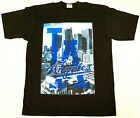 LOS ANGELES T-shirt LA City Of Angels Tee 100% Cotton Mens Black New on Ebay