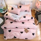 Cotton Material Ab Side Linens Duvet Cover Bedding Set Home Decor