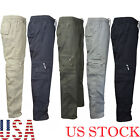 New Mens Cargo Pants Tactical Combat Military Army Work Slim Fit Twill Trousers