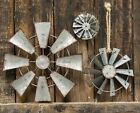 Внешний вид - WINDMILL Wall Hanging Decor,Ornament,Craft 3 sz Galvanized Metal FARM WINDMILL