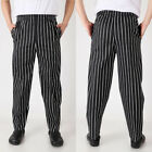 Unisex Men Loose Baggy Chef Pants Restaurant Cook Uniform Trousers Elastic Waist