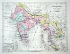 Indochina Hindustan India Indien Asia Asien Weltkarte Karte world map Lithograph
