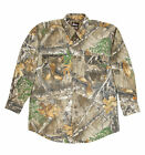 Berne Mens Realtree Edge Cotton Blend Stalker Button Down Shirt L/S