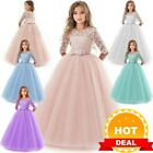 Flower Kid Dress Princess Party Wedding Bridesmaid Formal Gown Girl Long Dresses