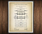 Rolling Pin Patent Print Decor Rustic Kitchen Baking Vintage Farmhouse Art Gift