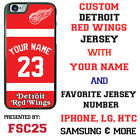 Detroit Red Wings Personalized Hockey Jersey Phone Case Cover for iPhone etc. $20.98 USD on eBay