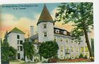 QUEBEC CANADA-SEIGNIORY CLUB-THE MANOR HOUSE UUSED LINEN POSTCARD