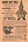 1922 small Print Ad of Daddy Boy Doll, Chic-Chic The Persistent Peckers